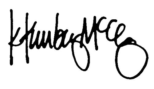 Kimberly McCleary Signature