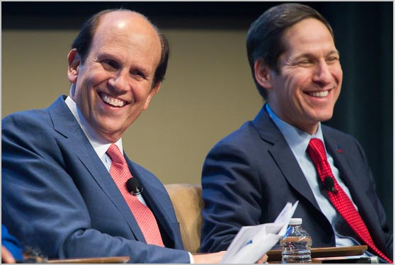 Michael Milken and Tom Frieden at the Atlanta Summit