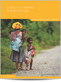 Catalytic Finance for Nutrition